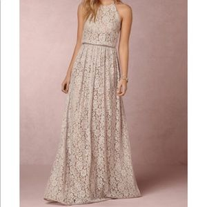 BHLDN by Anthropologie blush pink lace dress